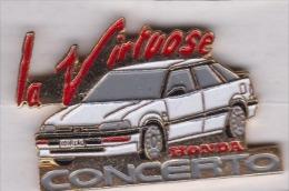 Superbe Pin´s  , Auto Honda Concerto , La Virtuose - Honda