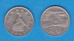 ZIMBABWE   20 CENTIMOS  1.988  Cu Ni   KM#4   VF/MBC    DL-11.062 - Zimbabwe