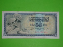 Yugoslavia,SFRJ,50 Dinars,banknote,paper Money,bill,geld,vintage - Yugoslavia