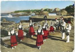 France, Danses Basques, BI-HARRI De Biarritz, Danse Des Arceaux Fleuuris, 1957 Used Postcard [14218] - Biarritz