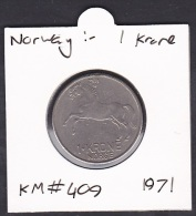 Norway, 1 Krone, KM#409/1971 - Norway