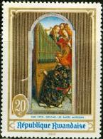 RWANDA, REPUBBLICA DEL RWANDA, ARTE, PITTURA, VAN EYCK, 1969, FRANCOBOLLO USATO - Rwanda