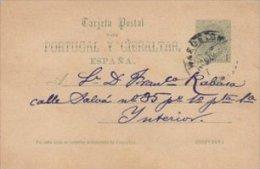 Tarjeta Postal Para Portugal Y Gibraltar.  Espana.  S-1719 - 1850-1931