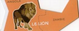 MAGNETS     PUBLICITEE    BROSSARD  SAVANE   ANIMAL D´AFRIQUE   LE LION - Animaux & Faune