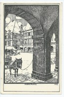 2- TOP RARE JOLIE CARTE CHARLEVILLE FELDPOSTKARTE MARKTPLATZ D´APRES UN DESSIN DE E HARTWIG 1915 GAZETTE DES ARDENNES 08 - Charleville