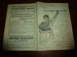 1901 ANNALES De La PATRIE FRANCAISE Organe Trés Virulent Contre La Ligue Des Droits De L'Homme - Livres, BD, Revues