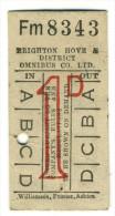 biglietto omnibus co Brighton anni '50-'60
