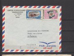 Nouvelle Calédonie - N° 342 Et 354  Obli/sur Lettre  - 1969 - Briefe U. Dokumente