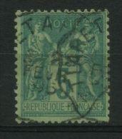 FRANCE : TRES  BELLE OBLITERATION , CAD D'ALGERIE  FEVRIER  1895  SUR TYPE  SAGE , A VOIR