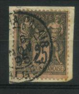 FRANCE  : TRES  BELLE  OBLITERATION  ,  C A D  D  ALGERIE  DU  6  NOVEMBRE  1895   SUR  TYPE  SAGE  ,  A VOIR .