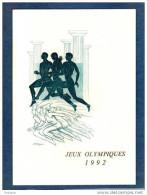 Encart -LUXE- Numéroté -jeux Olympiques 1992- Barcelone N° 2745+ Timbre Grec -avec Oblitération 1er Jour - France