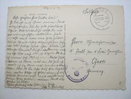 1942, METZ , Carte Militaire  A Allemagne - Guerre De 1939-45