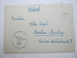 1943, Strassburg , Lettre Militaire  A Allemagne - Marcofilie (Brieven)