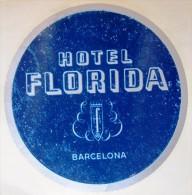 HOTEL RESIDENCIA MESON FLORIDA BARCELONA SPAIN LUGGAGE LABEL ETIQUETTE AUFKLEBER DECAL STICKER MADRID - Hotel Labels