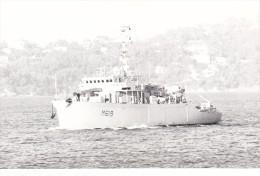 photo originale batiment militaire marine francaise M 629 vinh long 1984