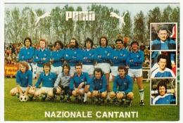 CALCIO - SQUADRA NAZIONALE CANTANTI - PUBBLICITA´ PUMA - Vedi Retro - Fútbol
