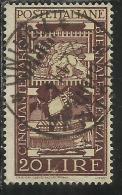 ITALIA REPUBBLICA ITALY REPUBLIC 1949 BIENNALE D´ARTE DI VENEZIA LIRE 20 USATO - USED - OBLITERE´ - 6. 1946-.. República