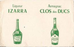 BUVARD LIQUEUR IZARRA ARMAGNAC CLOS DES DUCS - Liqueur & Bière