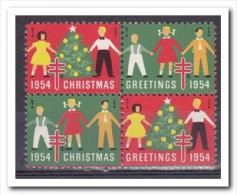 Tuberculosis, Christmas Seals 1954, Postfris MNH - Vereinigte Staaten