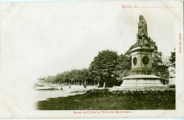 51 - REIMS - Statue De Colbert Et L'Allée Des Marronniers - Reims