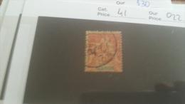 LOT 232546 TIMBRE DE COLONIE REUNION OBLITERE N�41 VALEUR 22 EUROS