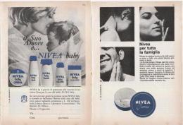 1967 -  NIVEA  -  2 P. Pubblicità Cm.13,5 X18,5 - Riviste