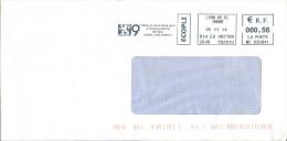 EMA MC 630841 Lyon 09 CC Rhône 69 + Flamme Mairie Du 9e Arrondissement - Lion Félin - Postmark Collection (Covers)