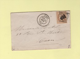 Caen - 13 - Calvados - Gc 691 - 14 Oct 1868 - Poststempel (Briefe)
