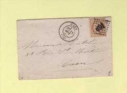 Caen - 13 - Calvados - Gc 691 - 14 Oct 1868 - Marcophilie (Lettres)
