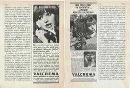 1967 - VALCREMA  -  4 Pagine Pubblicità Cm.13 X18 - Riviste