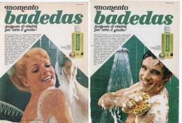 1967 -  BADEDAS  -  3 Pagine Pubblicità Cm.13 X18 - Riviste