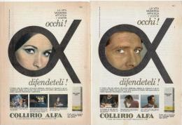 1967/8 -  Collirio ALFA  -  5 Pagine Pubblicità Cm.13 X18 - Riviste