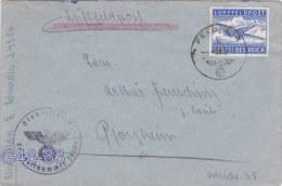 Feldpost WW2: Airmail Gshatsk - From Stab Panzerjäger- U. Aufklärungs-Abteilung 178 FP 24386 P/m 28.5.1942 - Cover Only - Militaria