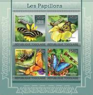 TOGO 2011 - Butterflies - Mi 3899-3902, YT 2524-7; CV = 17 € - Vlinders
