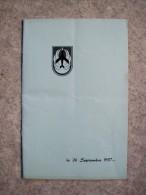 T6/ Rare programme Meeting A�rien de BEAUVECHAIN 26 septembre 1957 - 1er Wing de chasse