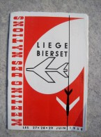 T6/ Programme Meeting A�rien des Nations � BIERSET 1958