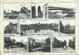 Solre-sur-Sambre En 9 Petites Vues ( Gare, Eglise La Thure , Quervette, Etc ... ) - 1975 ( Voir Verso ) - Erquelinnes
