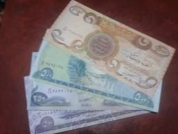IRAQ banknote,4 PCS ( 50,250,500,1000) DINARS 2003, UNC