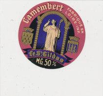 K M 343 /  ETIQUETTE  FROMAGE DEMI  CAMEMBERT  LE   ST GILDAS      FAB. EN LOIRE ATLANTIQUE - Cheese