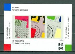 Helvetia 1993 Vignettenblock 150 Jahre Schweizer Briefmarken - Blocks & Sheetlets & Panes