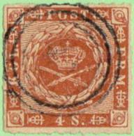 DEN SC #9 1863 Royal Emblems, CV $15.00 - 1851-63 (Frederik VII)