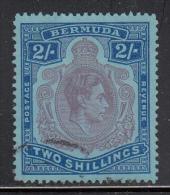 Bermuda Used Scott #123 2sh George VI, Perf 13 - Bermudes