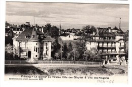 Suisse - Fribourg - Le Quartier De Pérolles Villa Des Glicynes & Villa Des Fougères - Editeur: Louis Burgy N° 1877 - FR Fribourg