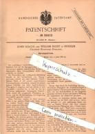 Original Patent - John Heath Und W. Frost In Burslem , England , 1886 , Explosive Cartridge , Ammunition , Munitions !!! - Documents