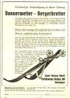 Original-Werbung/ Anzeige 1936 - SKI / BERGERBRETTER / BERGER ROTHSCHWAIGE- DACHAU - Ca. 115 X 160 Mm - Werbung