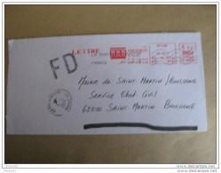 EMA Mairie De Frethun / FD - Poststempel (Briefe)