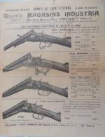 ARMES: Publicité FUSILS GRANDS MAGASINS INDUSTRIA (TROYES) Années 1920-30 ? - Autres