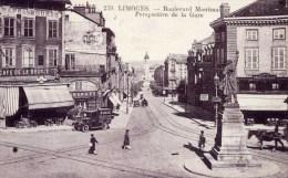 87 LIMOGES  Boulevard Montmailler Perspective De La Gare   Animée Voitures Anciennes - Limoges