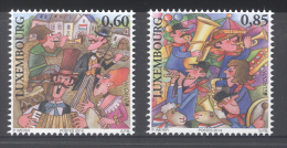 LUXEMBOURG, 2014, MNH,EUROPA, MUSICAL INSTRUMENTS, 2v - 2014