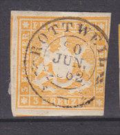 WÜRTTEMBERG 12 A, Gestempelt Rottweil 20.JUN 1862 - Wuerttemberg